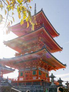 Three Story Pagoda in Kiyomizu Temple